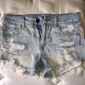 High Waisted Denim Cutoff Shorts